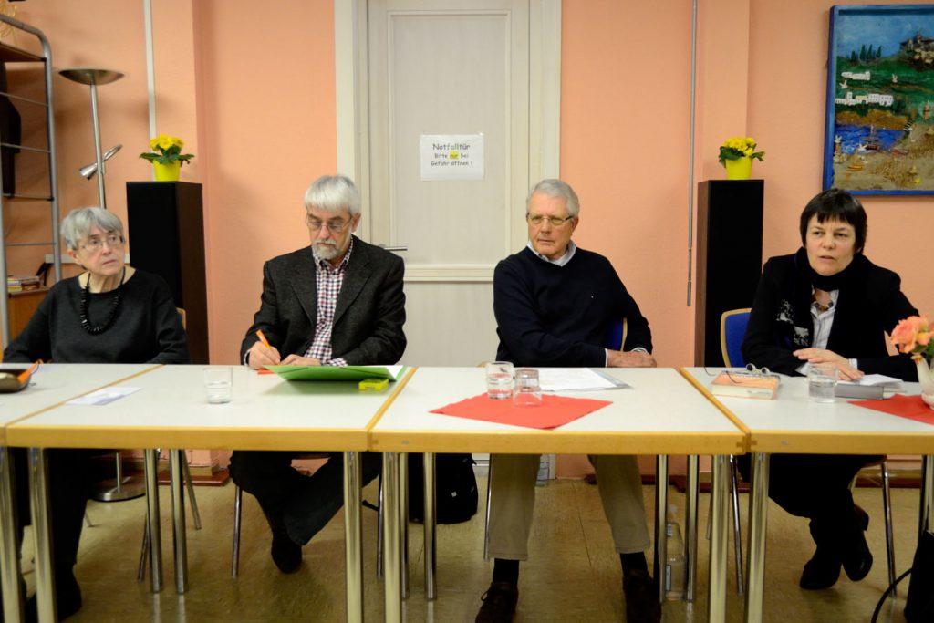 v.l.n.r: Margret Hamm, Andi Andernacht, Dieter Pagel, Dr. Uta George