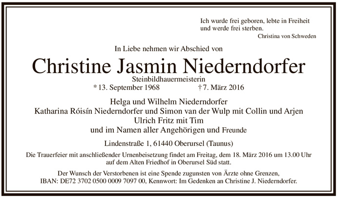 Todesanzeige-Christine-Jasmin-Niederndorfer