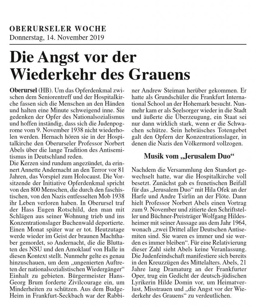 Oberurseler Woche, 14.11.2019, Seite 17