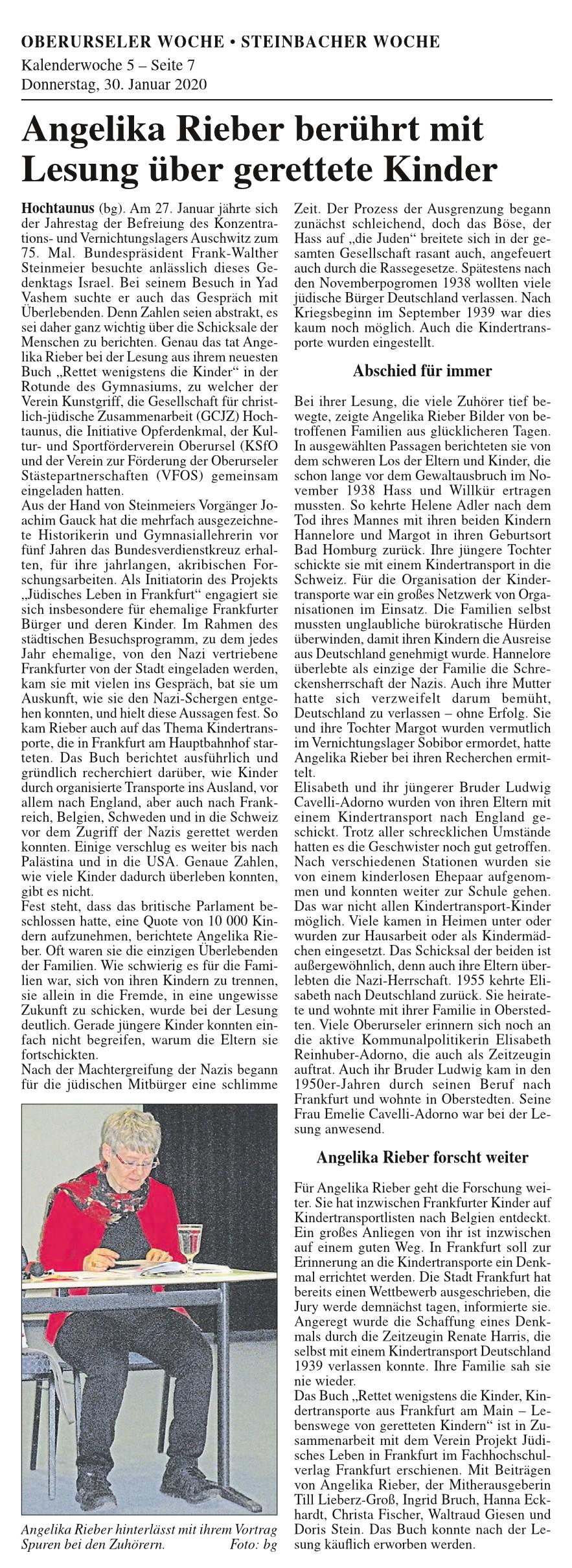 Lesung Angelika Rieber