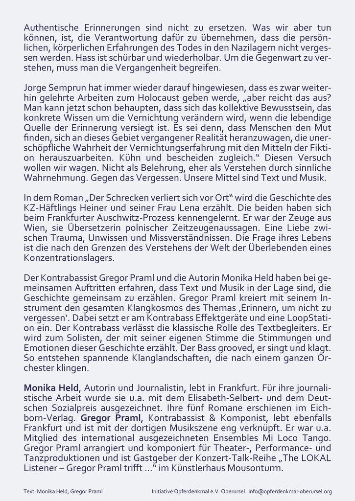 Flyer 9. November 2020 Rückseite
